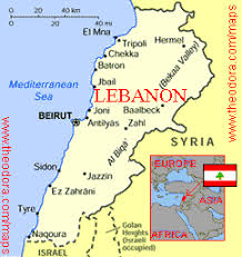 lebanon on the map maps of lebanon lebanese flags maps economy geography