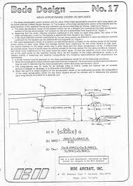 aerodynamic chord bede design aircraft design information series