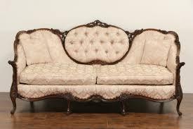 Tufted Vintage Sofa Sold French Style Carved Frame 1940 U0027s Vintage Sofa Tufted