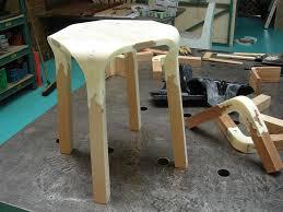 Plastic Wood Chairs Plastic Nature Stool Pelidesign