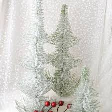 set of 3 frosted pine trees robertson