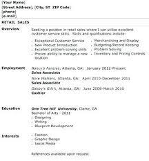 Stockroom Associate Resume Resume Sample Retail Sales Associate Retail Clothing Sales