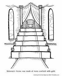 coloring page for king solomon king solomon s throne old testament coloring pages bible printables