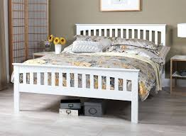 shabby chic white bed frame bedroom long white cabinet wall