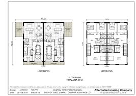 duplex floor plans for narrow lots 134 2v3 amaroo duplex floor plan by ahc brisbane home builder