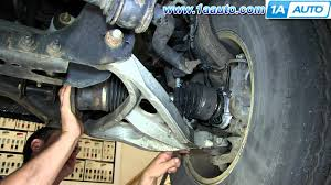 ford explorer front end parts how to install replace front drive axle cv joint half shaft 2004
