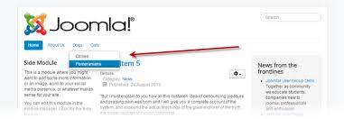j3 x creating a submenu joomla documentation
