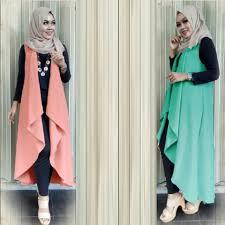 fashion terbaru fashion setelan muslim vest modis terbaru