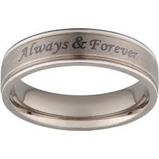 Engraved Name Rings Personalized Men U0027s Beveled Top Engraved Name Message Ring In