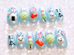 nails deco nails 3d nails onigiri kawaii food kanji