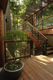 outdoor stair railing staircase contemporary with metal railing