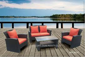 Outside Patio Table Outside Patio Seating Sets With Cushion Pe Wicker Modern Style