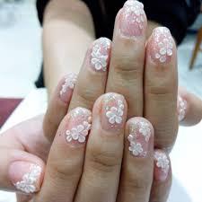 nail art flower bridal nails bmodish wedding nailrt easy