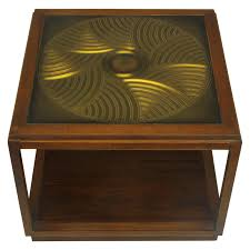 incredible bert england east indian laurel side table with etched