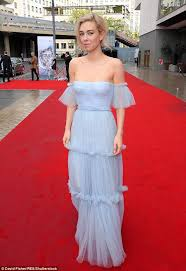 vanessa kirby dazzles on the tv baftas red carpet daily mail online