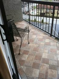 same tile floor on the balcony overlooking downtown too