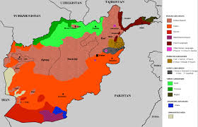 Central And Northern Asia Map by Languages And Ethnic Groups Of Afghanistan
