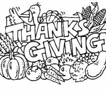 coloring pages thanksgiving free babblin5 combabblin5
