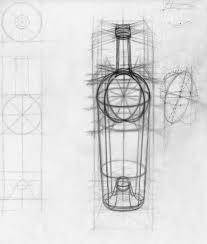 design drawing wine bottle justin kujawa