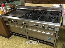 garland 5 us range 60 commercial stove oven griddle 6 burner