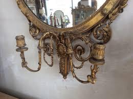adam style gilt wood girandole mirror in mirrors