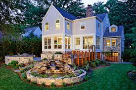 home design curved wall and large window also chimney for