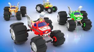colors kids learn monster trucks racing trucks