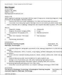 Radiologic Technologist Resume Examples Medical Technologist Resume Sample Medical Coding Resume