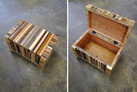 scrap wood custom storage trunks and storage chests custommade