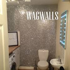 glitter wallpaper bathroom glitter wallpaper grade 3 silver sold by the metre amazon co uk