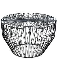 Wire Coffee Table Wire Coffee Table Black 75cm Dia Cintesi