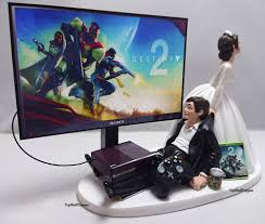 xbox cake topper wedding cake topper dest2 gamer xbox one ps4 custom