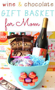 Wine Baskets Ideas Gift Basket Ideas For Moms Birthday Wine And Chocolate Gift Basket