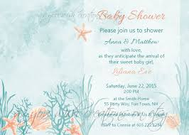 baby shower invitation sea shells vintage watercolor chic
