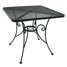 metal patio dining table shop garden treasures hanover 30 in x 30 in steel square patio