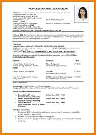 resume format 2017 philippines 6 correct resume format addressing letter