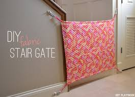 Baby Gates For Bottom Of Stairs With Banister How To Make Your Own Diy Fabric Baby Gate For Your Home