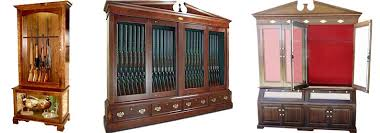 Wood Gun Cabinet Amish Woodworking Handcrafted Furniture Made In The Usa