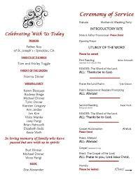Wedding Ceremony Program Ideas Sample Catholic Wedding Program Wording U2013 Mini Bridal
