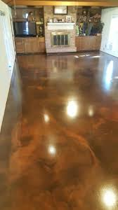 chocolate and brass reflector metallic epoxy floor by ras