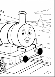 excellent winter landscape coloring pages with the train