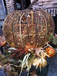 lighted wicker pumpkin fall planter so festive holidays