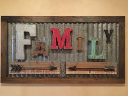 Rustic Vintage Home Decor by Rustic Family Sign Made From Vintage Letters And Old Corrugated