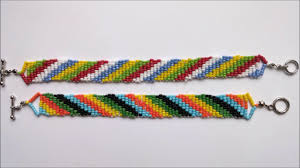 glass beads bracelet images How to make colorful seed bead bracelets using 5 different colors jpg