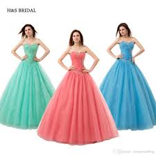 tulle ball gown prom dresses sequins cheap sweet 15 robe de soiree