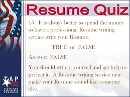 Resume Writing Quiz