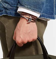 leather wrap anchor bracelet images Miansai grained leather and silver plated anchor wrap bracelet in jpeg