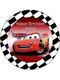 cars cake toppers cars lightning mcqueen 19cm kopykake edible icing image birthday