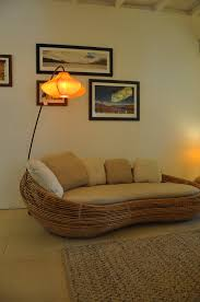 rattan pebble sofa with izmir floor lamps studio ebony cane