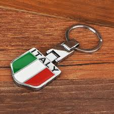 lexus accessories keychains italy badge metal keychain keyring for italian car fiat alfa romeo